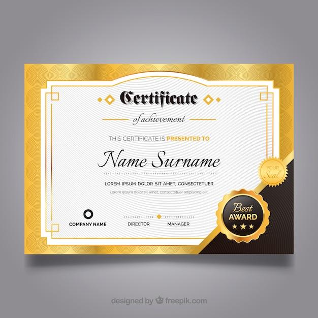 Elegant Marriage Certificate Template Golden Edition: Free Download: Elegant Certificate With Golden Details
