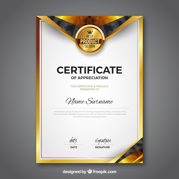 Award certificate vectors photos and psd files free for Commemorative certificate template