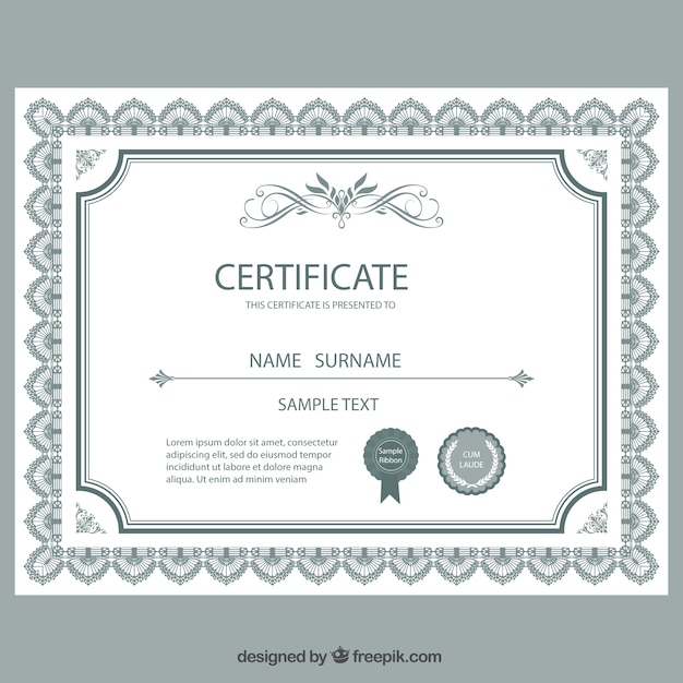 Certificate template vector free download certificate template free vector yelopaper Images
