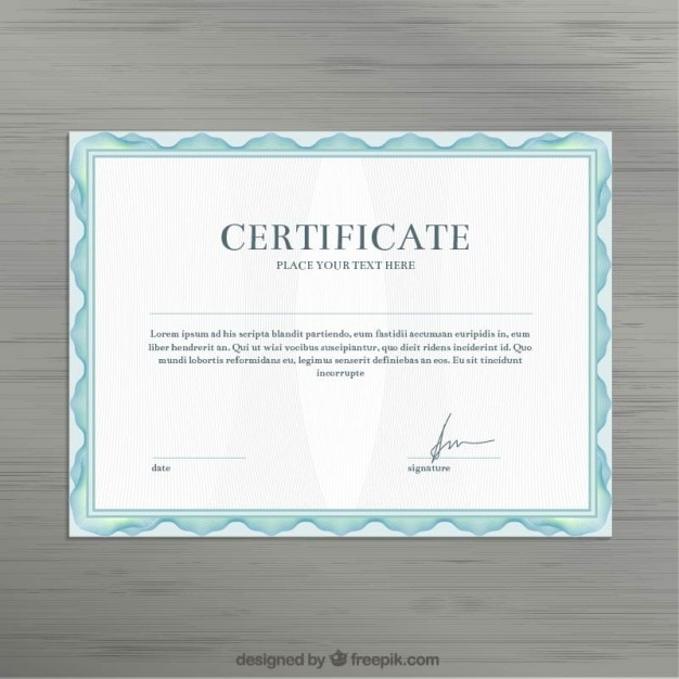 Certificate template vector free download certificate template free vector yadclub Image collections