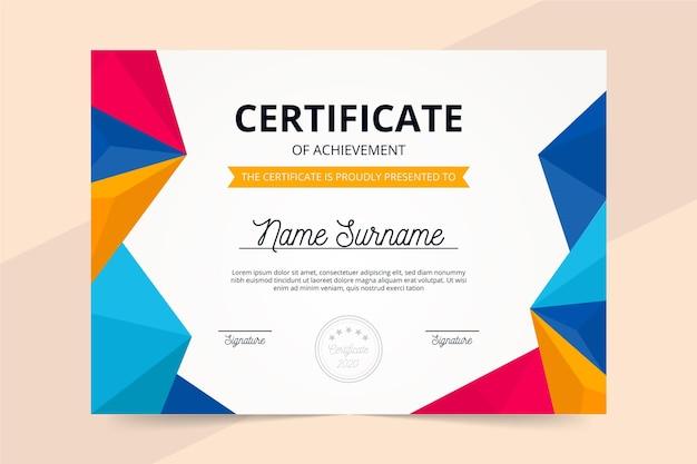 Certificate template Free Vector