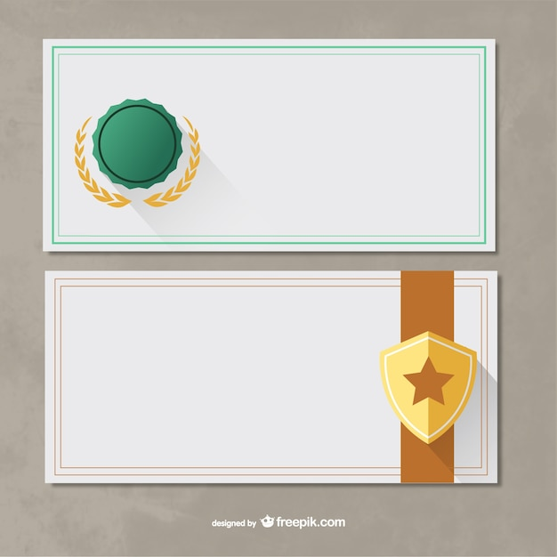 Certificate templates pack vector free download certificate templates pack free vector yelopaper Image collections