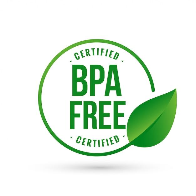 Certified bpa bisphenol free symbol Free Vector