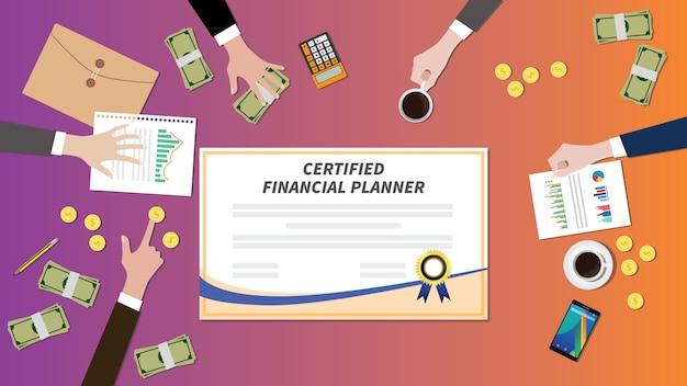 Certified financial planner certification paper Vector | Premium ...