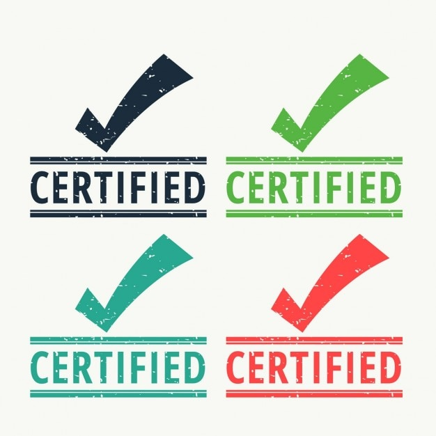 Certified seals Free Vector