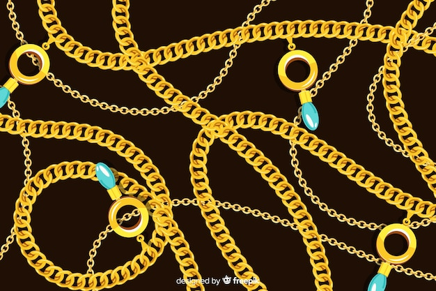 Chain background Free Vector