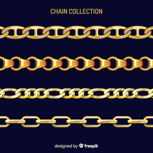 Chain collection Free Vector