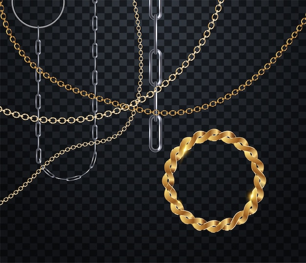 Chain for fabric design Premium Vector