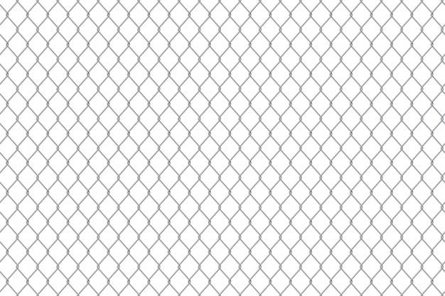 Chain link fence wire mesh steel metal background Premium Vector