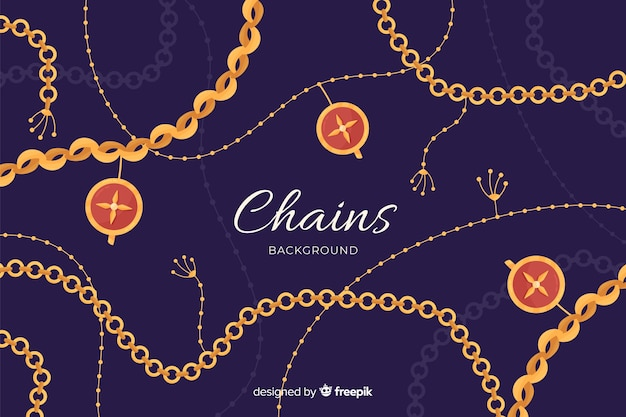 Chains background Free Vector