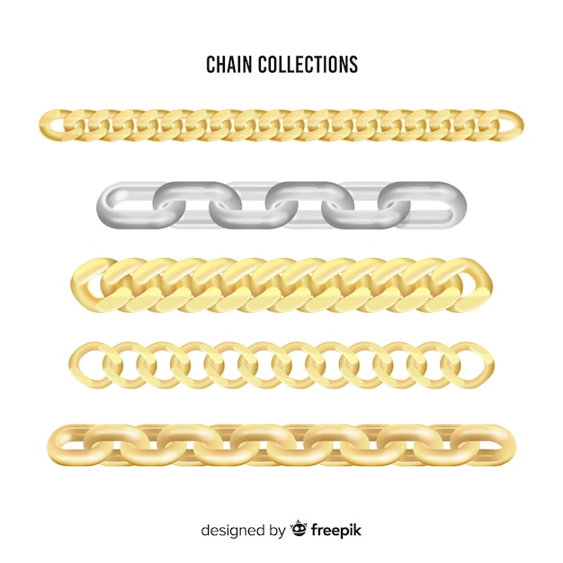 Chains collection Free Vector