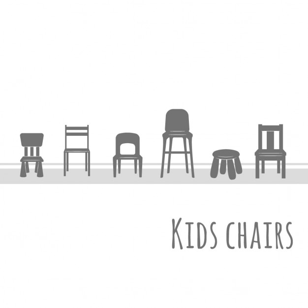 Chairs for children Free Vector