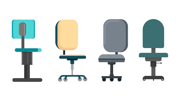 Chairs isolated vector illustration Premium Vector