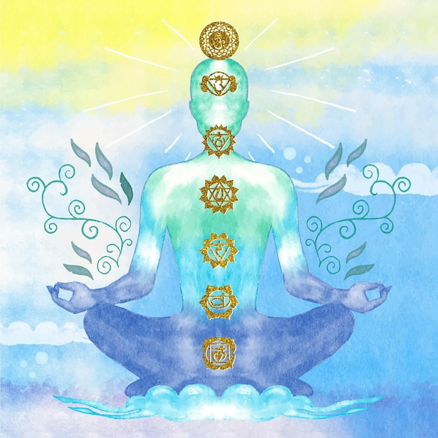 Chakras concept illustration Free Vector
