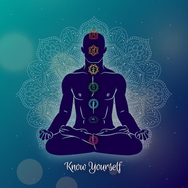 Concetto di illustrazione di chakra Vettore gratuito