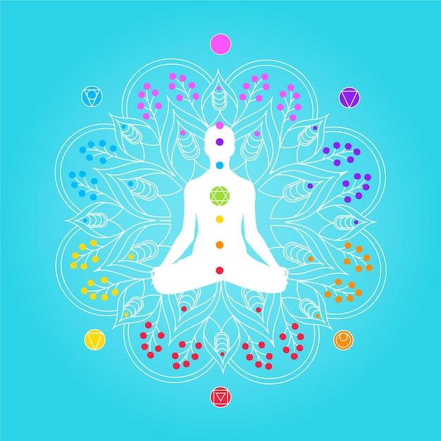 Chakra concetto mistico Vettore gratuito