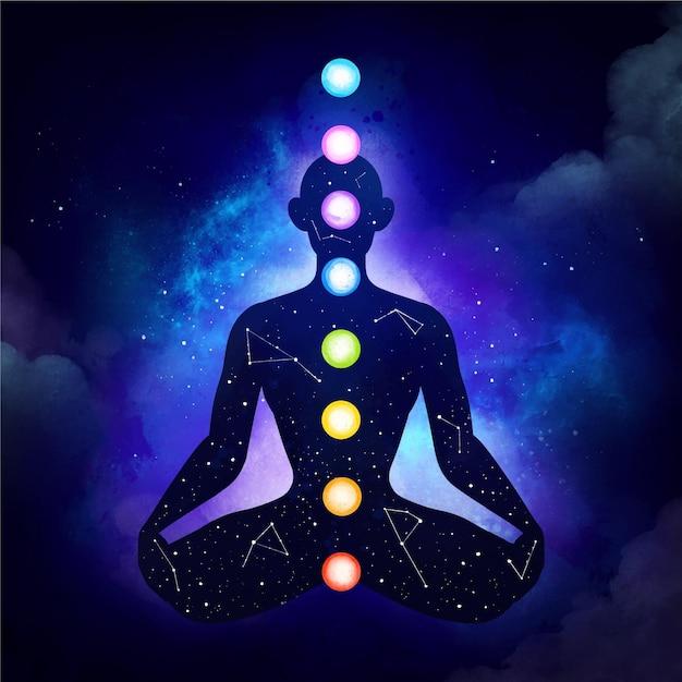 Мистическая концепция чакр Бесплатные векторы