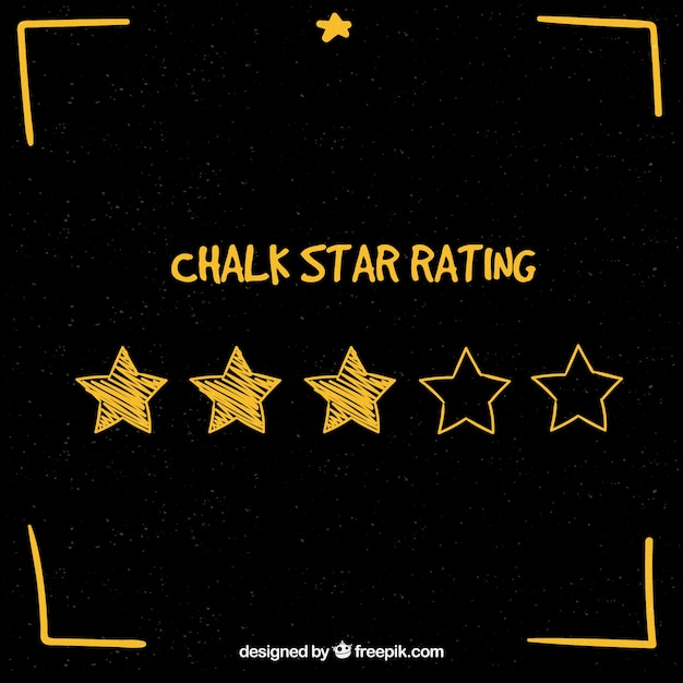 Chalk star rating concept Free Vector