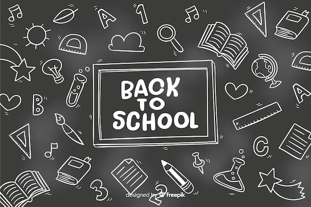 Chalkboard back to school background Free Vector