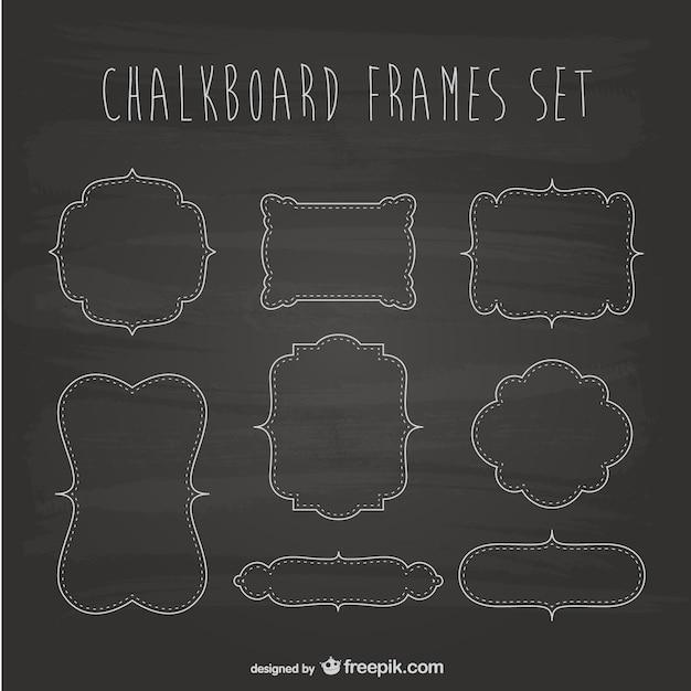 Chalkboard frames set Free Vector