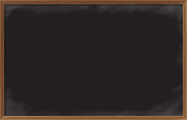 Chalkboard wooden frame Premium Vector