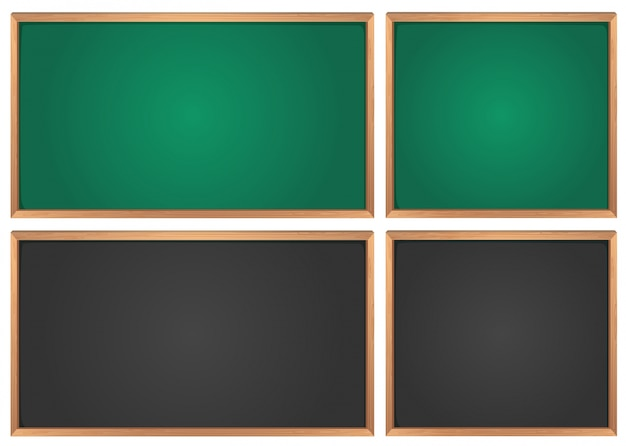 Chalkboards in green and black Free Vector