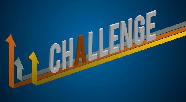 Challenge word graphic improvement concept Free Vector