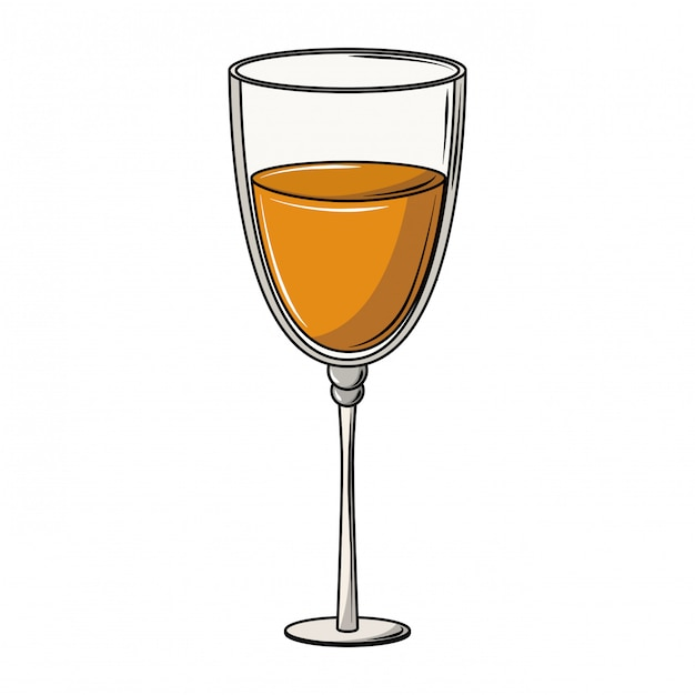 Champagne glass cup Premium Vector