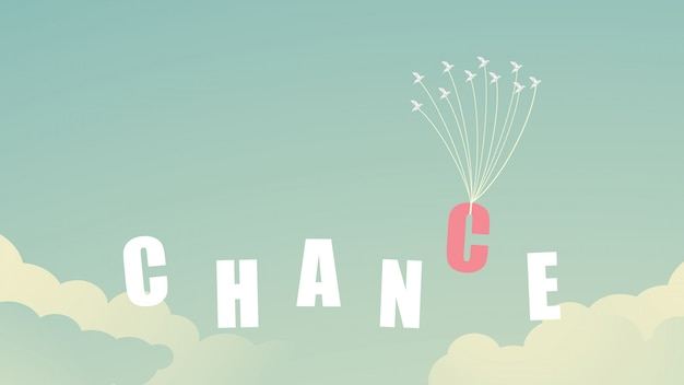 Chance concept birds flying Premium Vector