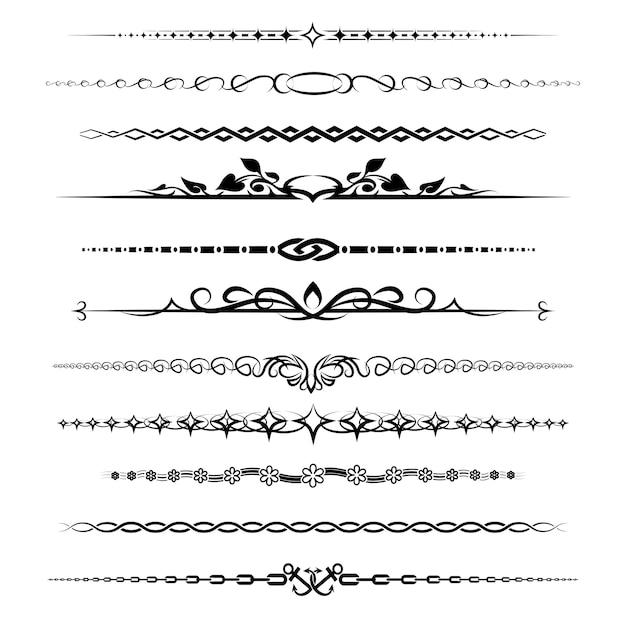 Chapter dividers set. element retro decoration vintage Free Vector