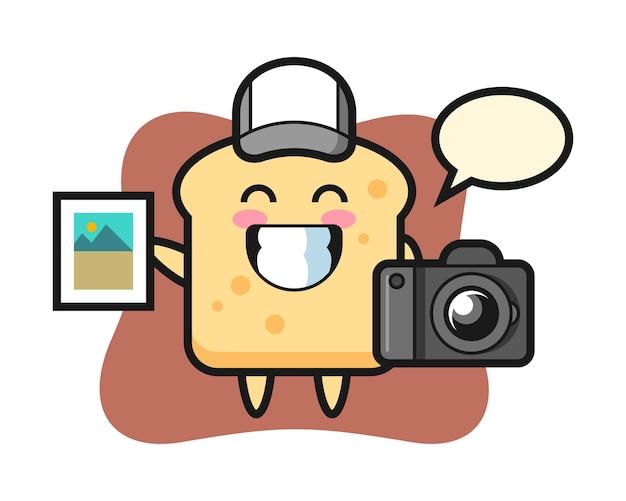 写真家としてのキャラクターパン Premiumベクター