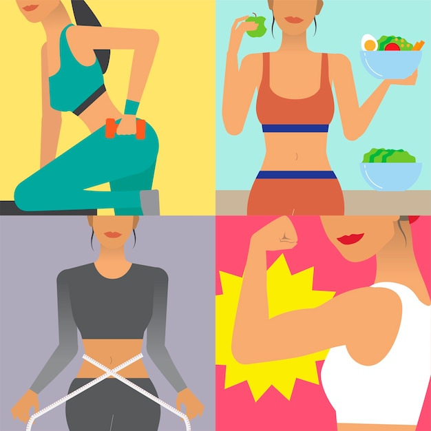 Character illustration of woman lifestyle Free Vector
