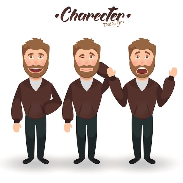 Character man design Premium Vector