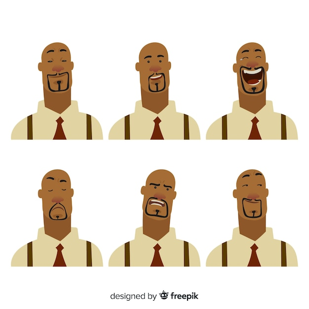 Character showing emotions Free Vector