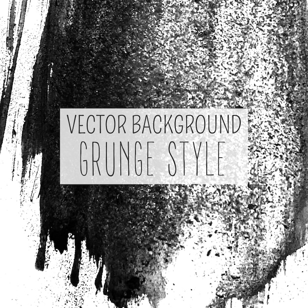 Charcoal drawing grunge style vector background Free Vector