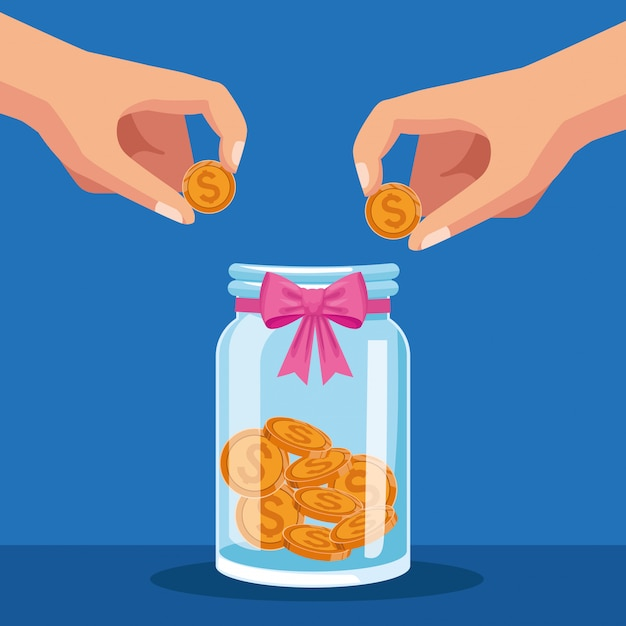 Charity and donation Premium Vector