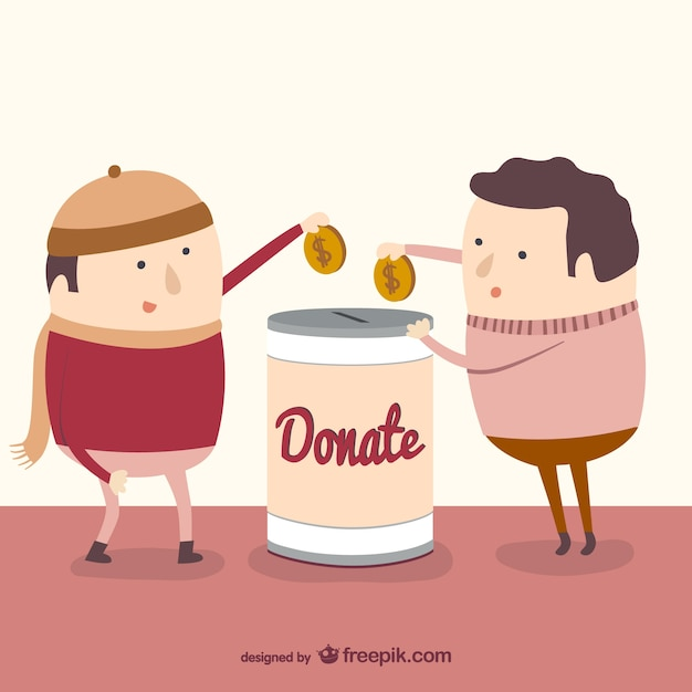 Charity donation Free Vector