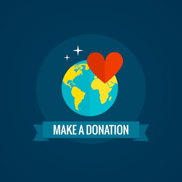 Charity and donation Free Vector