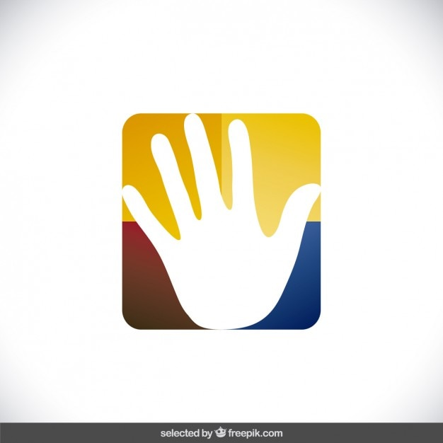 Charity Logo With Hand In Square