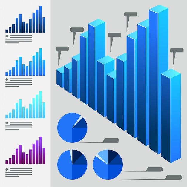 Коллекция диаграмм Premium векторы