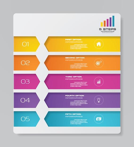 Chart infographic element Premium Vector