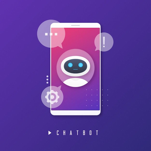 Chat bot, virtual assistance, artificial intelligence concept. Premium Vector