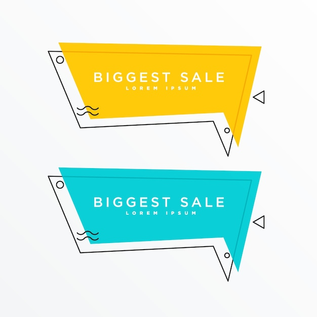 chat bubble design for attractive sale and offers Free Vector