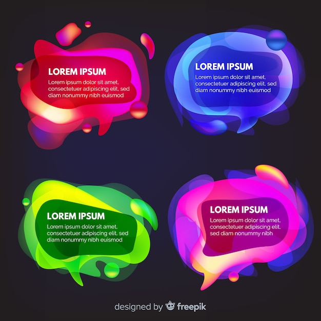 Chat bubbles with colourful variety of background Free Vector