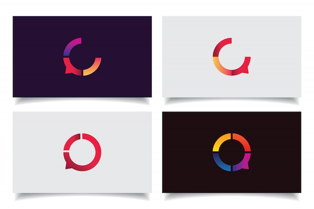 Chat icon logo design Premium Vector