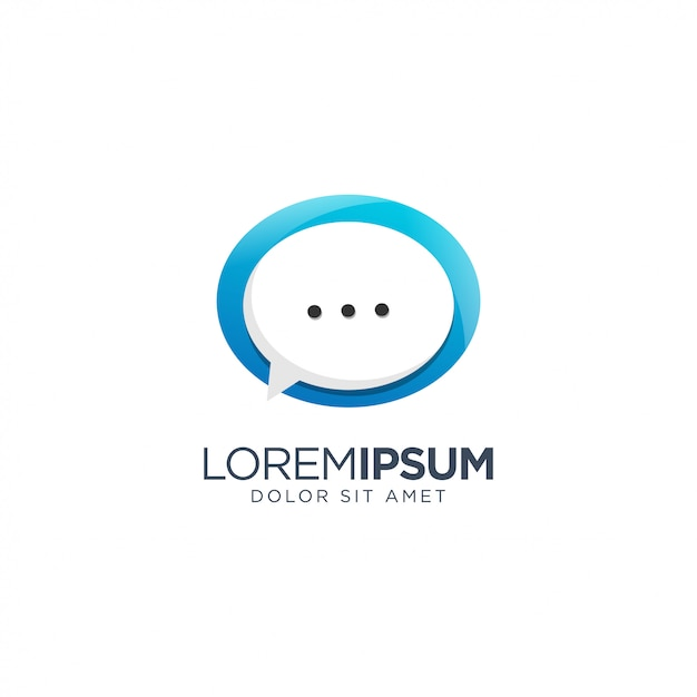 Chat logo Premium Vector