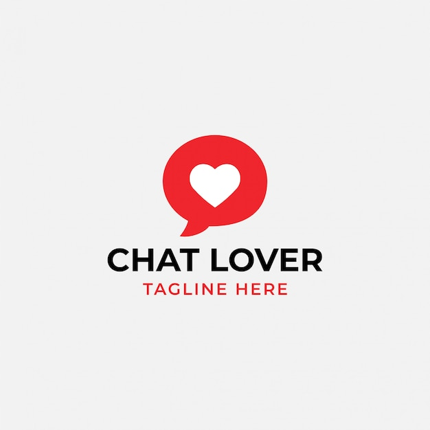 Chat lover logo Premium Vector