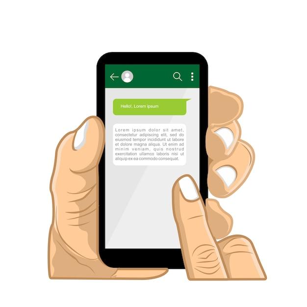 Chat me Premium Vector