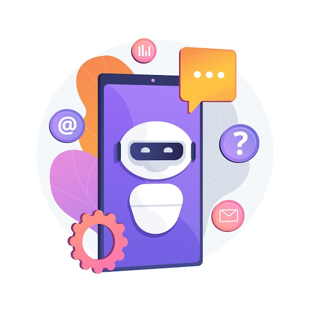 Chatbot artificial intelligence abstract concept illustration Free Vector
