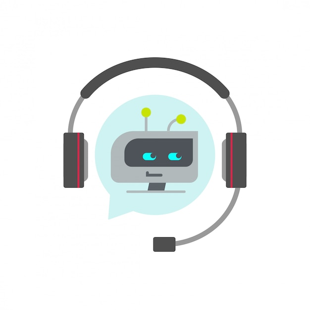 Chatbot or bot support assistant vector icon Premium Vector